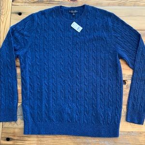Brooks Brothers Cable Knit Lambswool Sweater - XXL